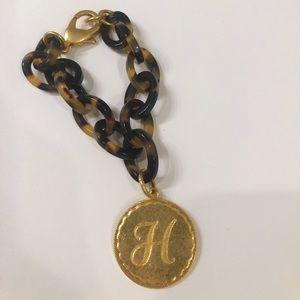 """Jewelry - Tortoise Link Bracelet with """"H"""""""
